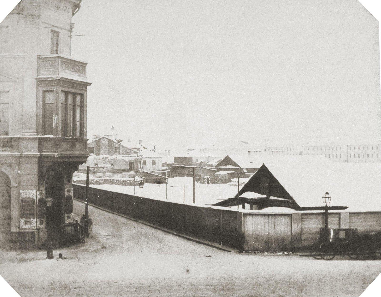 Площадка для строительства Николаевского дворца. 1853