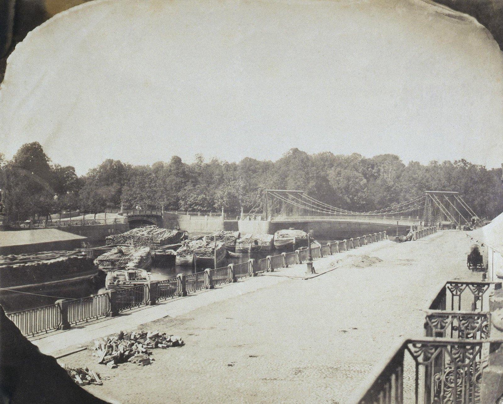 Вид на Пантелеймоновский мост через Фонтанку. 1853