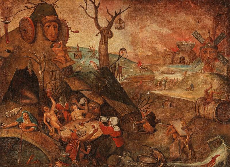 Follower of Pieter Brueghel the Elder - A Group Of Gluttons