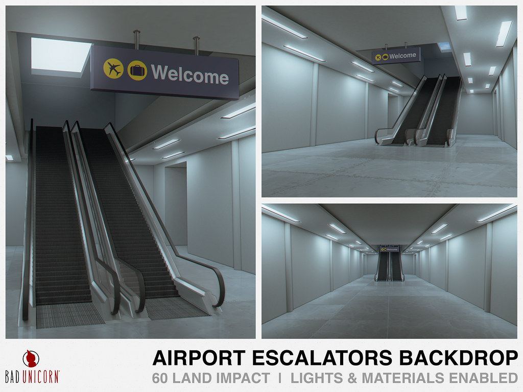 NEW! Airport Escalators Backdrop @ C88