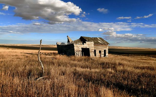 Rural ruins Alberta.