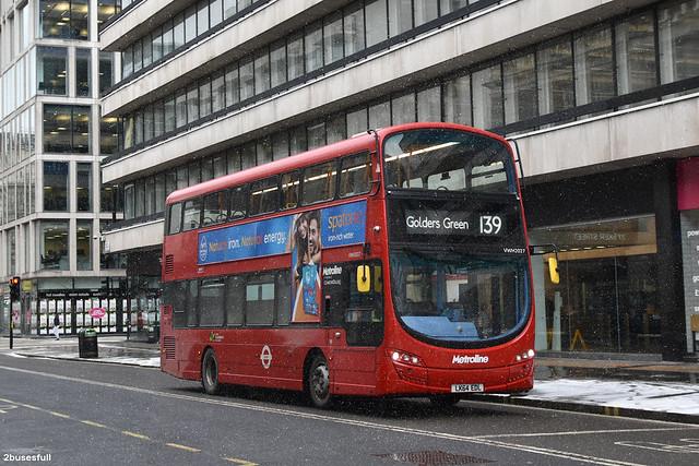 139 | Metroline | VWH2027 | Golders Green