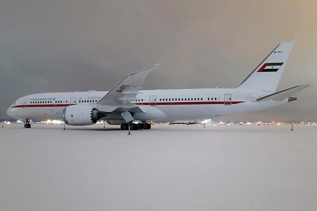 A6-PFG United Arab Emirates 787-9 at KCLE