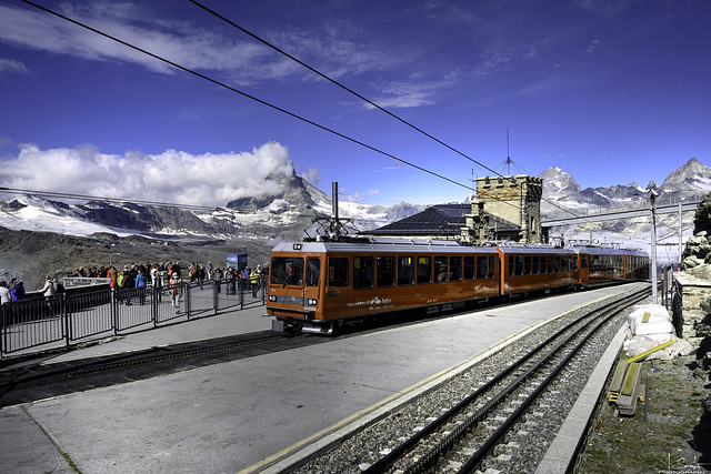 Last train station Gornergrat - Zermatt - Wallis - Switzerland