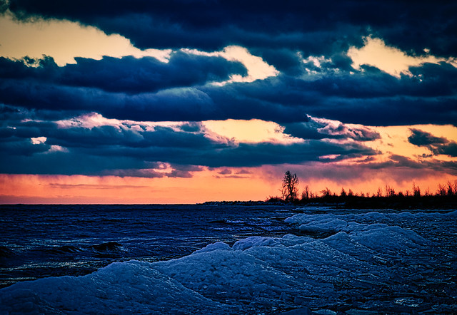 Lake Ontario shore, Cherry Beach, Toronto