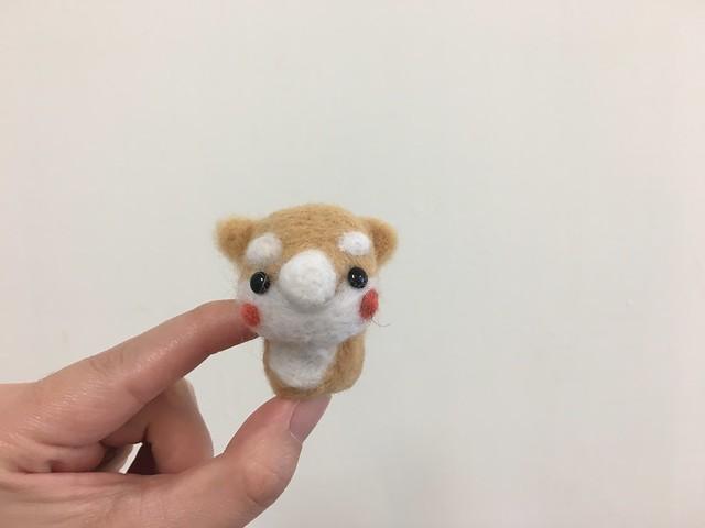 羊毛氈之半成品小柴犬