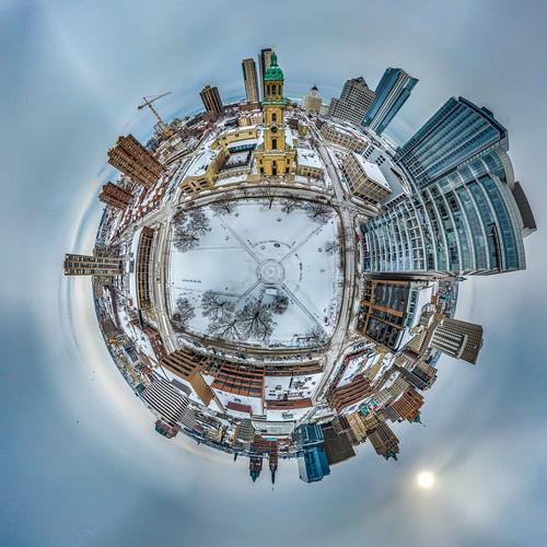 cathedralsquare usa 2021 littleplanet city cityscape aerial urbanexploration tinyplanet unitedstatesofamerica urban wisconsin 360panorama architecture drone milwaukee djimavicpro february aerialphotography unitedstates
