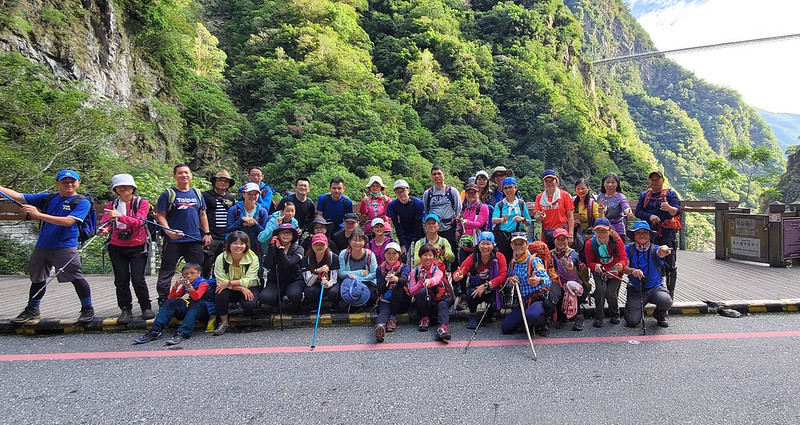 Taroko Hiking Group led by Brother Kim