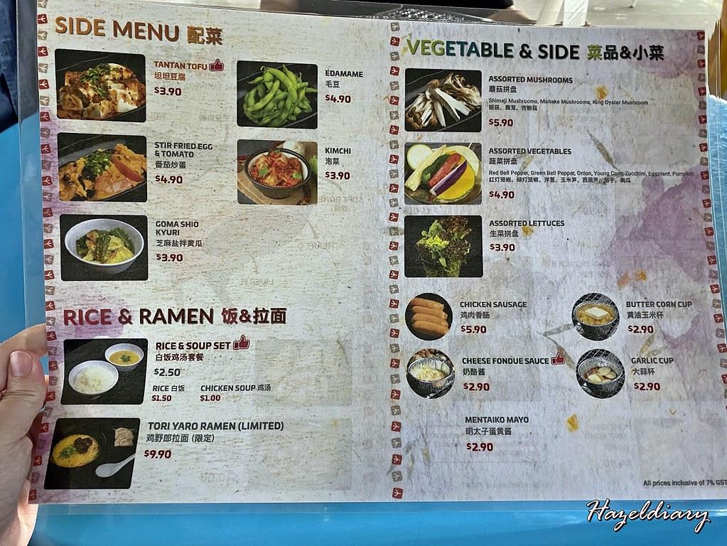 Chicken Yakiniku Tori Yaro-Keisuke Group-Menu 1