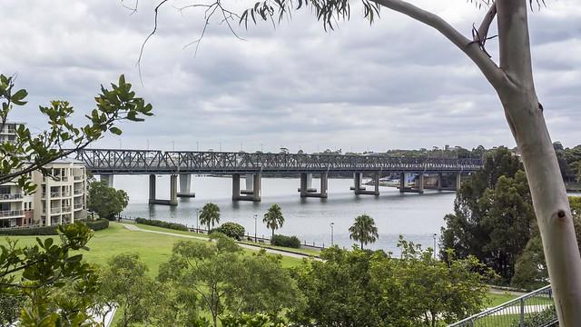 Iron Cove Bridge from Bridgewater Park, Rozelle
