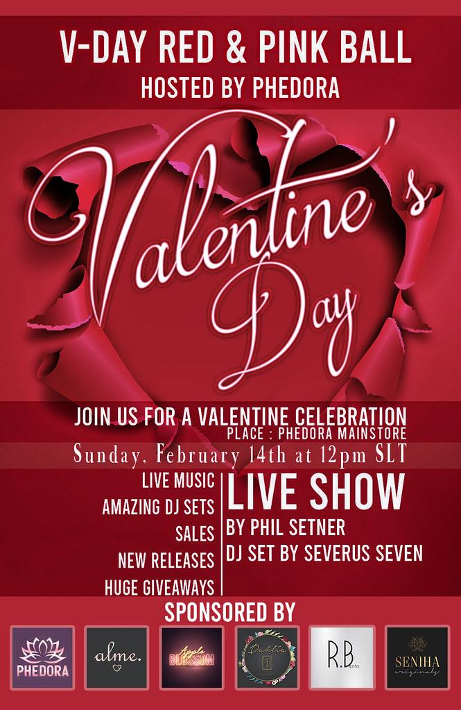 V-Day Red & Pink Ball ♥ Sponsored by: Phedora. – Alme. – Apple Blossom – Dahlia – RBento- Seniha Originals ♥