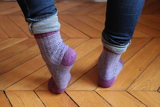 blueberry waffle socks - usure | by KnitSpirit