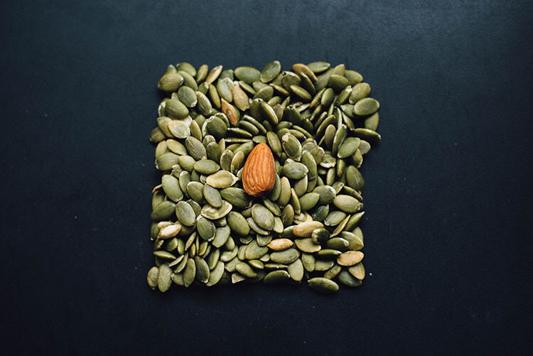 snack with nuts and seeds
