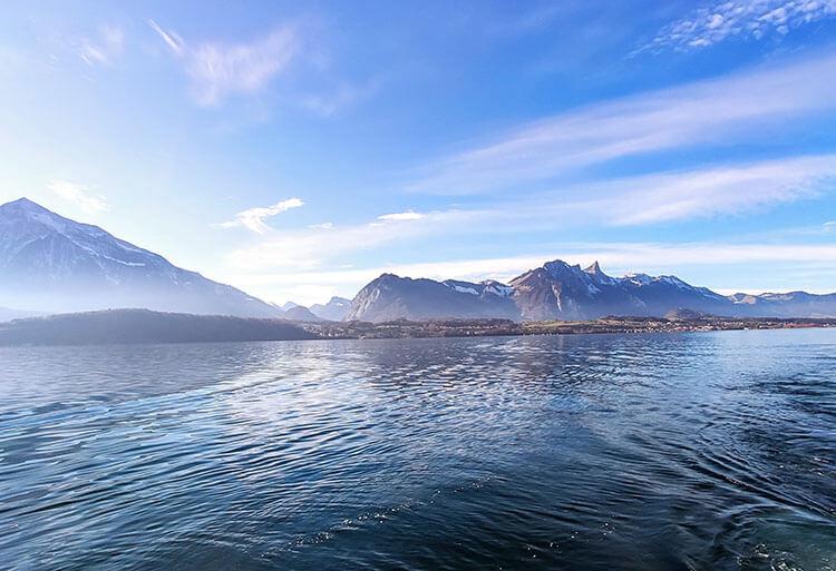 Lake Thun beaches in Switzerland
