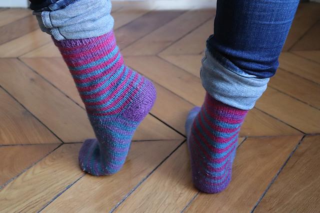 chaussettes sans patron - usure