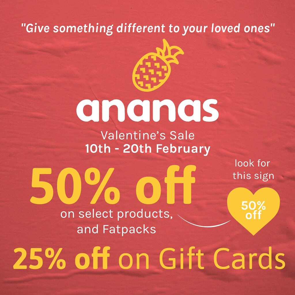 Big Valentine's Day Sale @ Ananas Mainstore Starting Today!