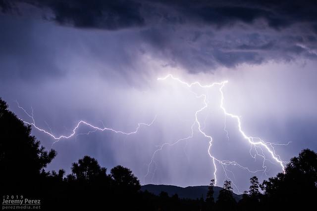 5 September 2019 — Flagstaff, Arizona — Monsoon Lightning