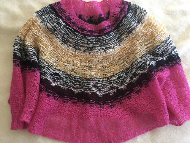 Sweater Knitting:  The Engle Sweater in DROPS Brushed Alpaca Silk