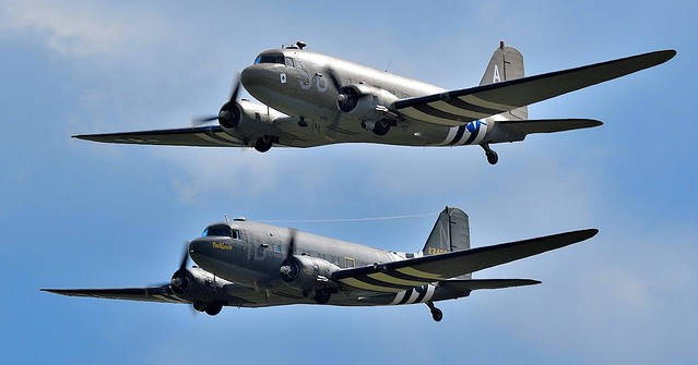 Douglas C-47A DN147C 2100884 Aces High & Douglas C-47A Skytrain (DC-3) N74589 224064 Placid Lassie