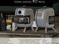 The F-class Coffe machine in white