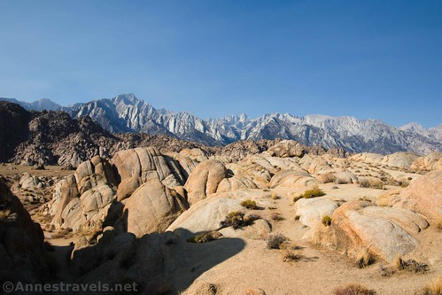 The Sierras from the Mobius Arch Loop Trail, Alabama Hills National Scenic Area, California