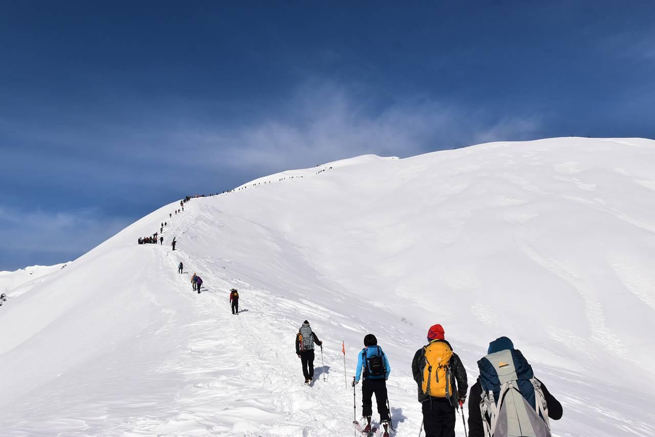 冬の谷川岳(天神尾根コース)大人気の雪山登山