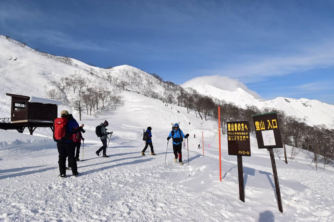 冬の谷川岳登山口