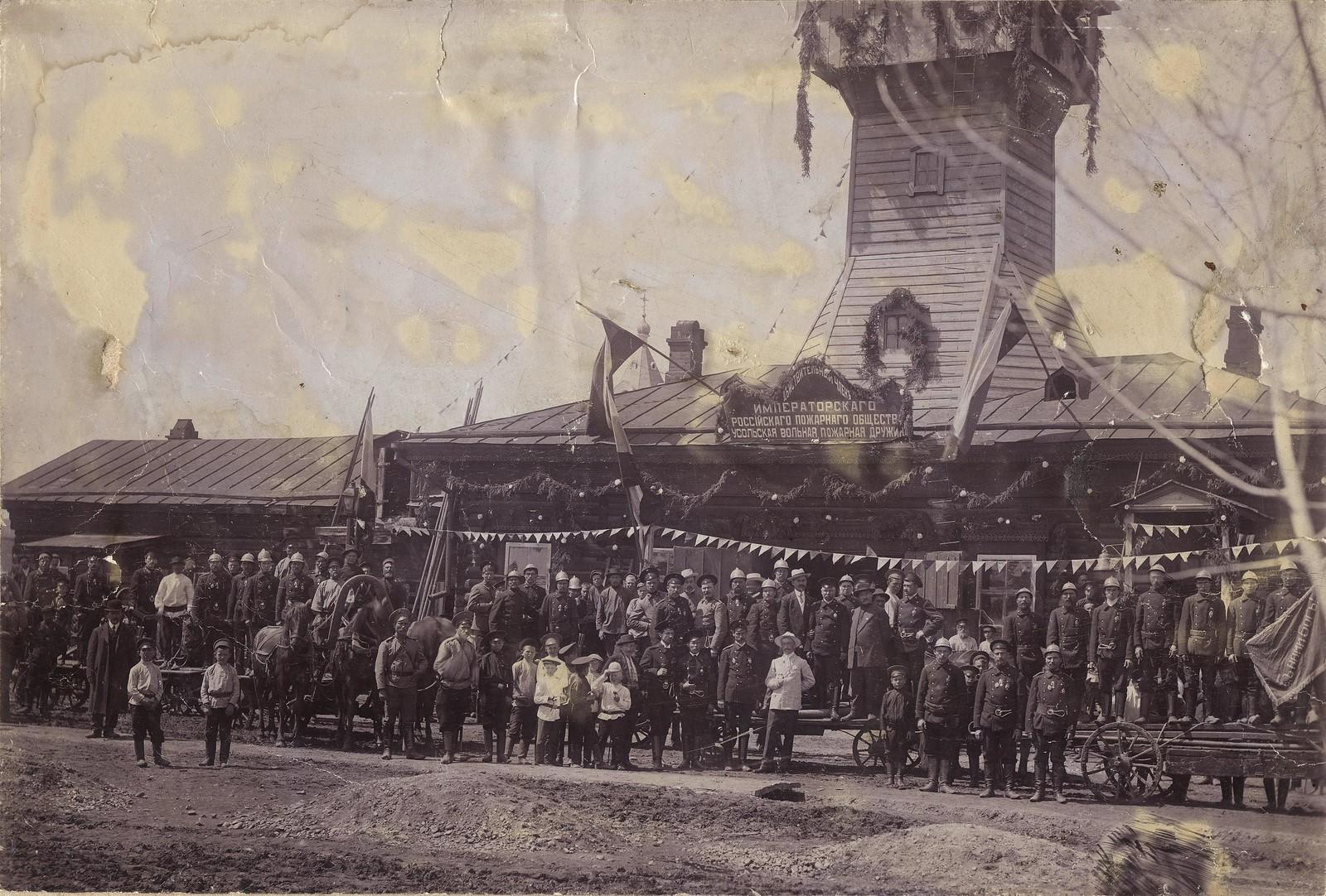 1912. Празднование первого десятилетия Усольской добровольной пожарной дружины.