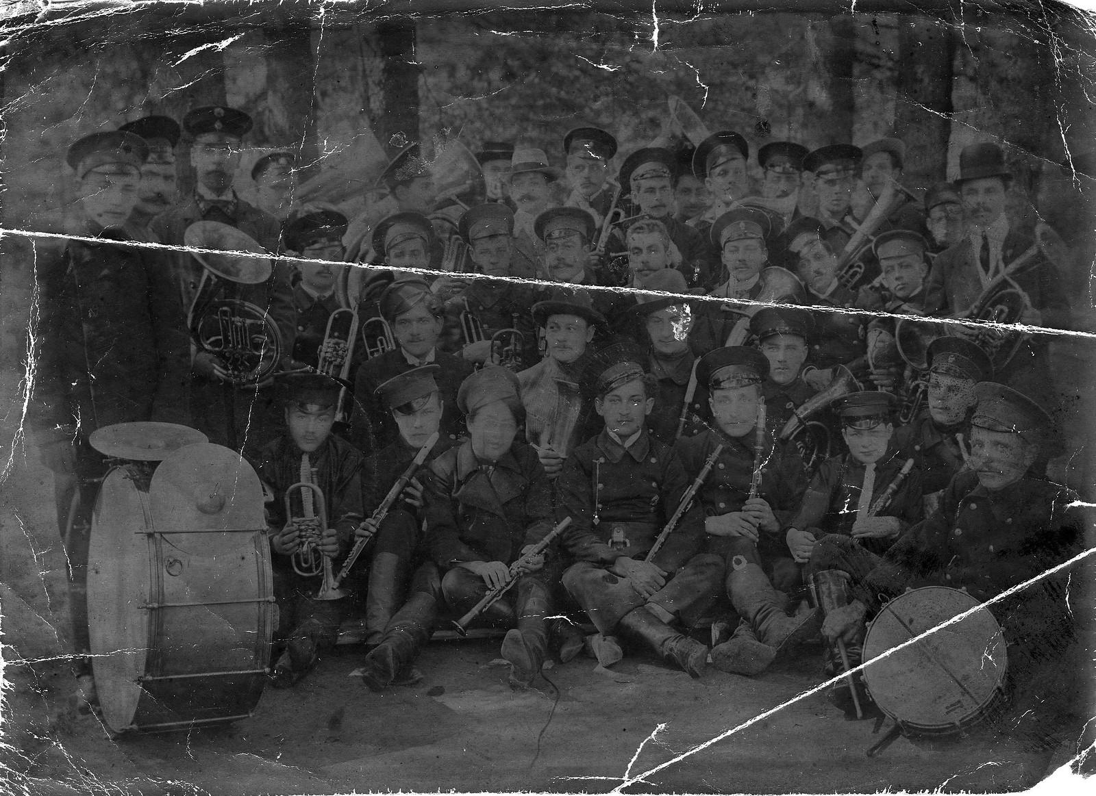 1908. Оркестр Иркутского добровольного пожарного общества