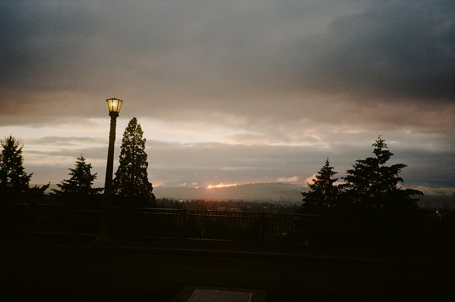 Sunset from Mount Tabor, 28 Jan 2021