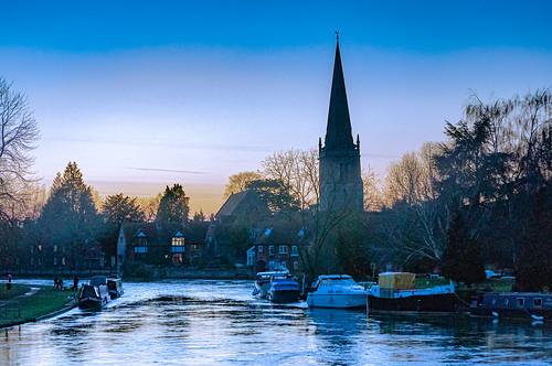 abingdon evening oxfordshire england sunset thames thamesriver