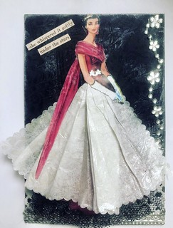 Postcard with a Paper Dress | by Donetta's Beaded Treasures