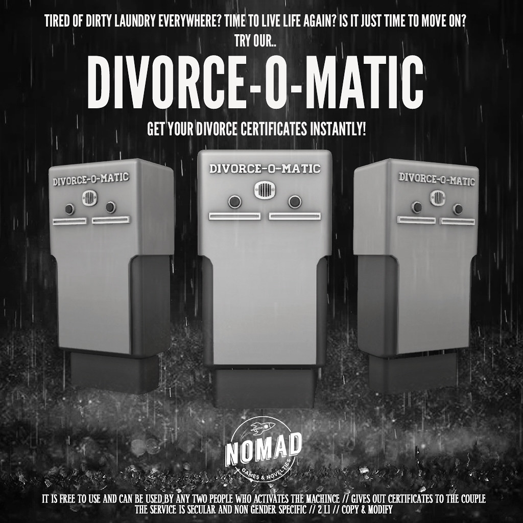 NOMAD // Divorce-O-Matic