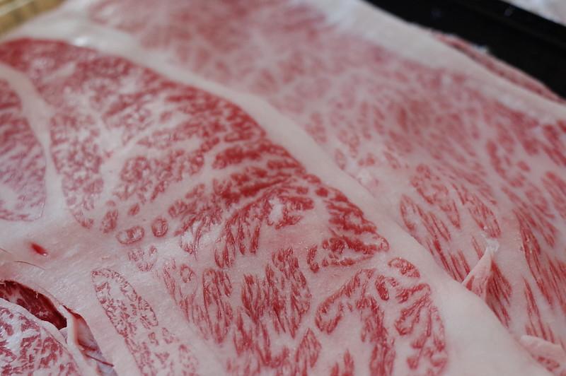 すき焼きの黒毛和牛A5肉