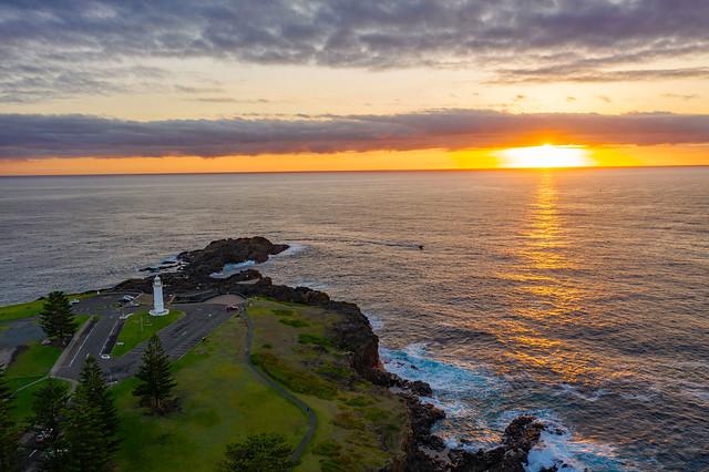 Sunrise-over-the-lighthouse #marineexplorer