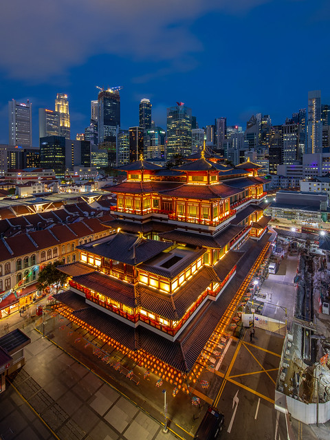 Temple light-up for Chinese New Year