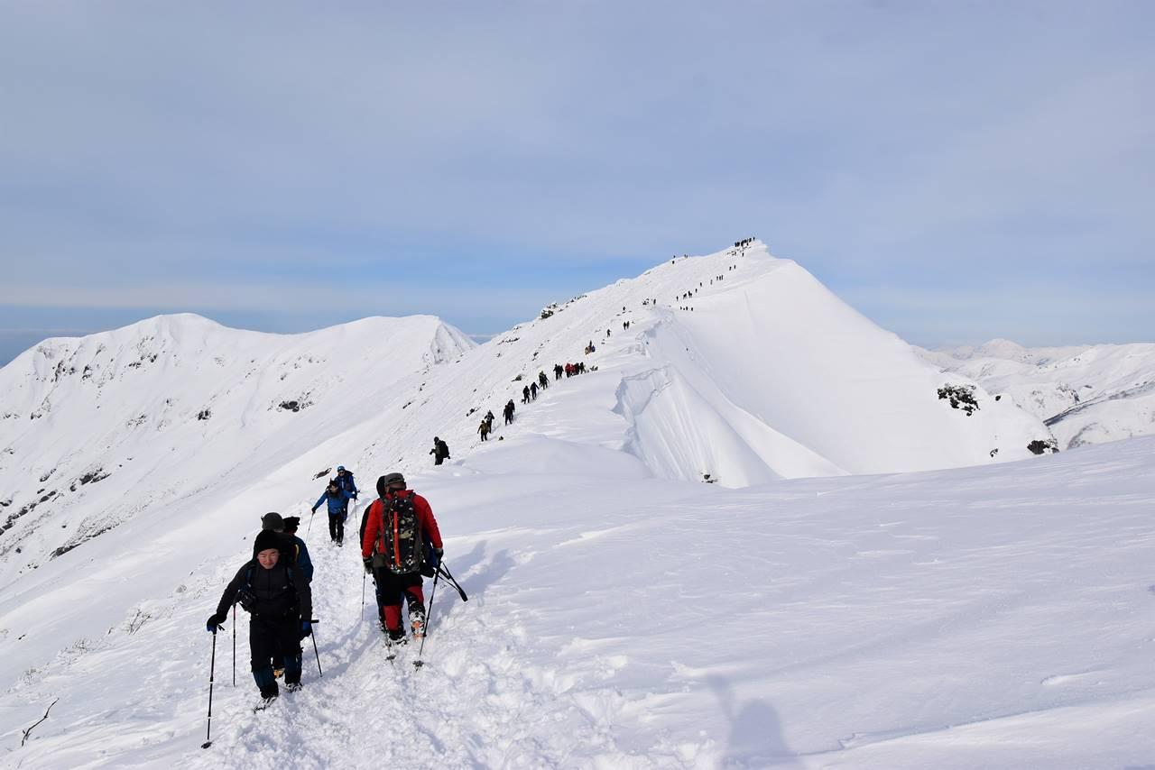 冬の谷川岳(天神尾根コース)雪山登山 オキの耳へ