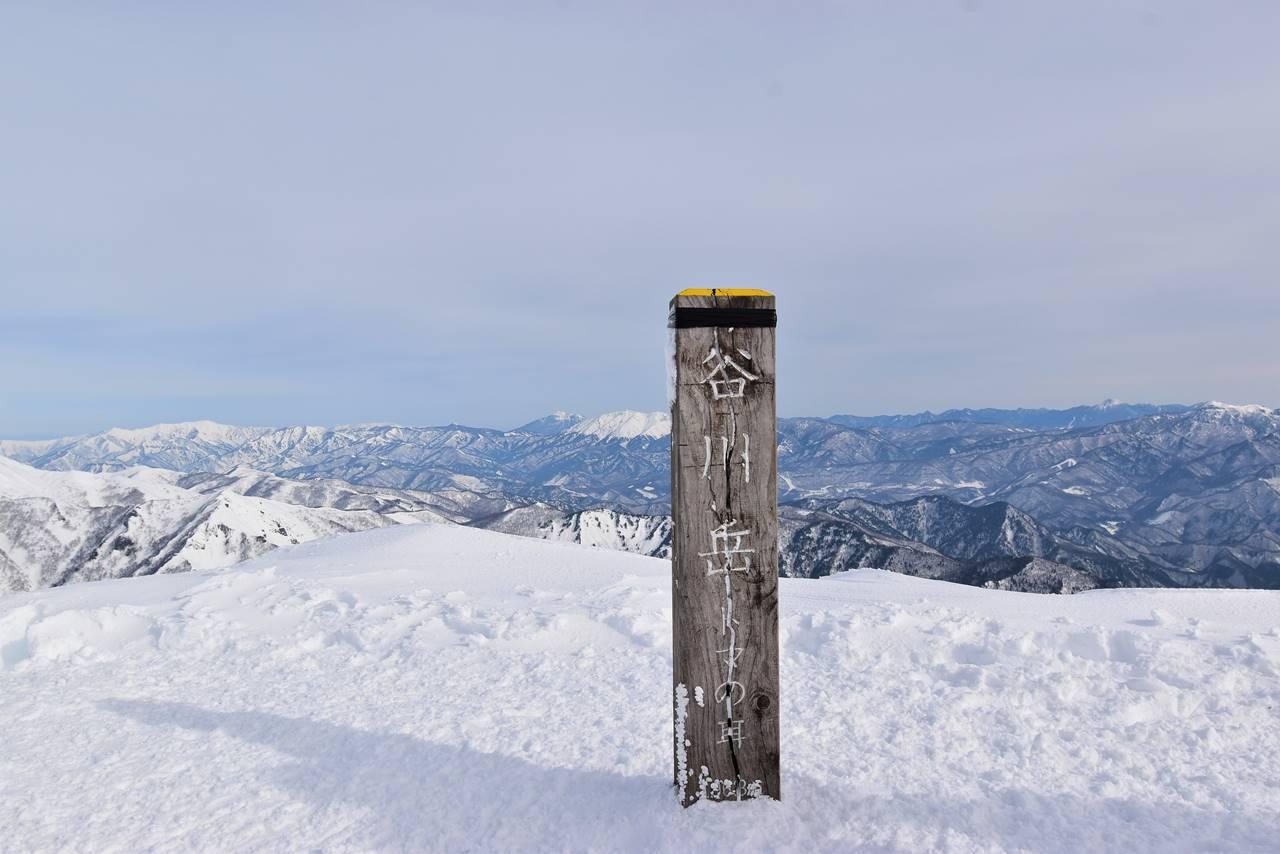 冬の谷川岳(天神尾根コース)雪山登山 山頂・トマの耳