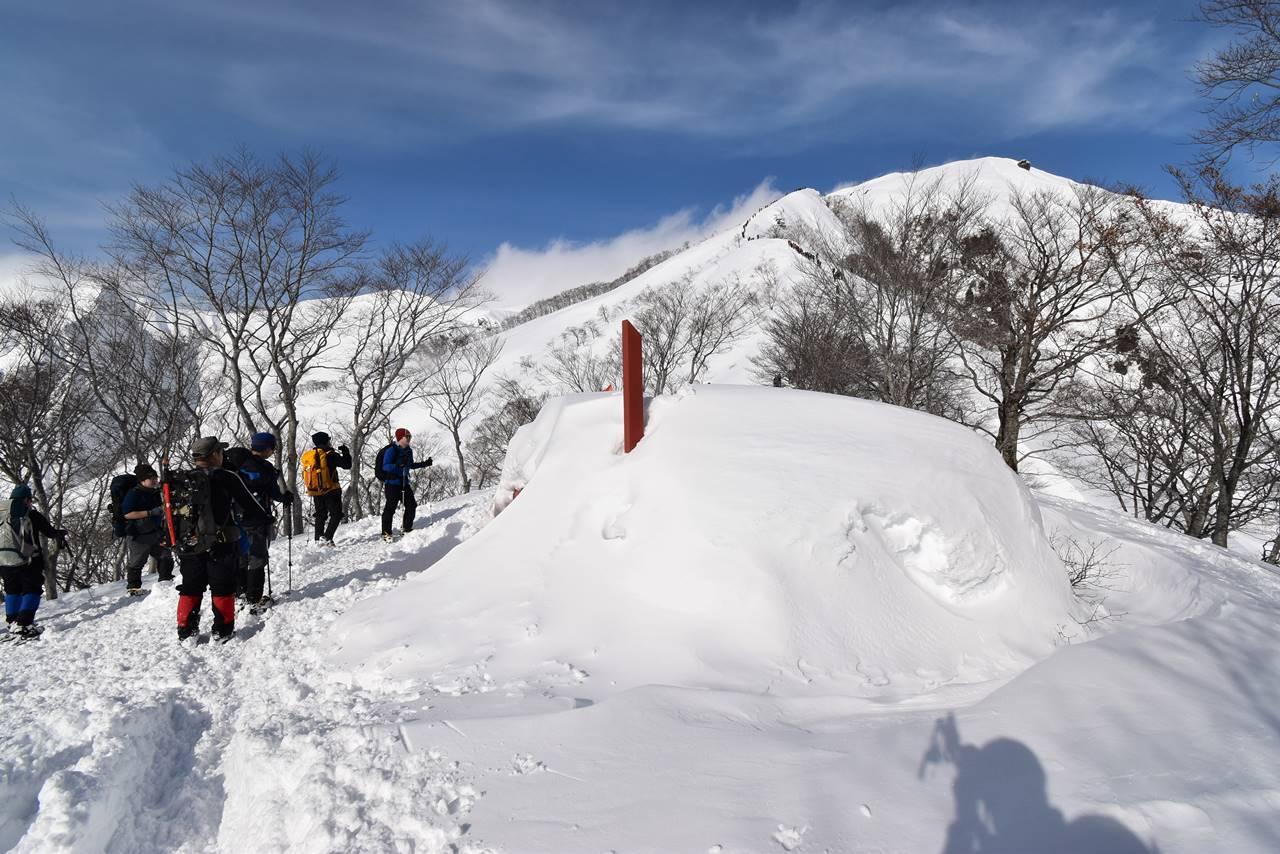 冬の谷川岳雪山登山 熊穴沢避難小屋
