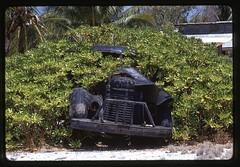 52-54 Kiribati Canton Island south side Skavuola bush swollowing truck