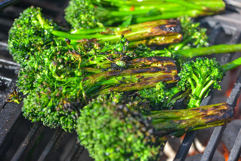 Grilled Broccolini with Lemon and Parmesan