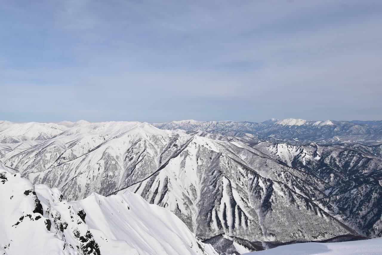 谷川岳から眺める尾瀬方面の展望