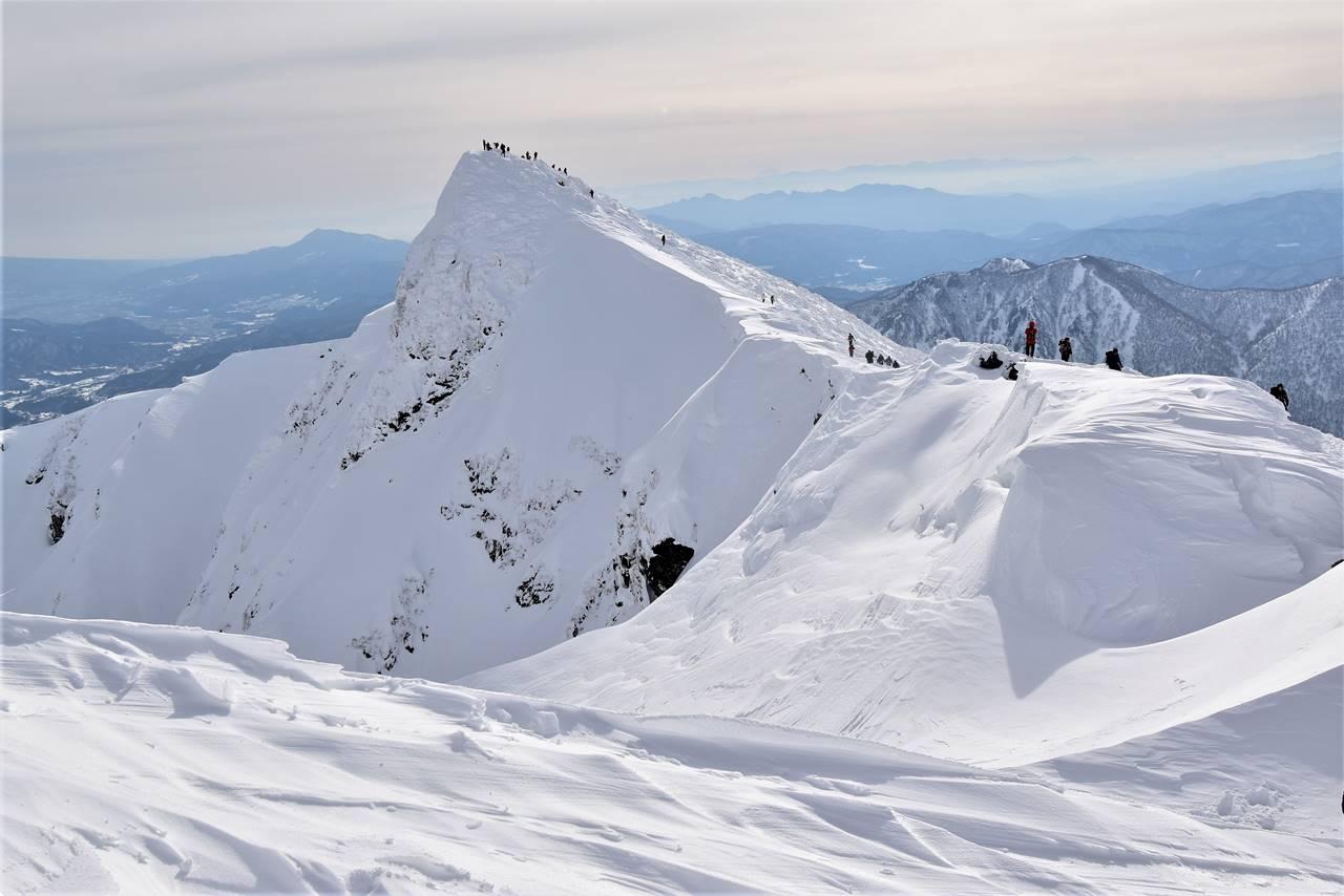 冬の谷川岳(天神尾根コース)雪山登山 トマの耳