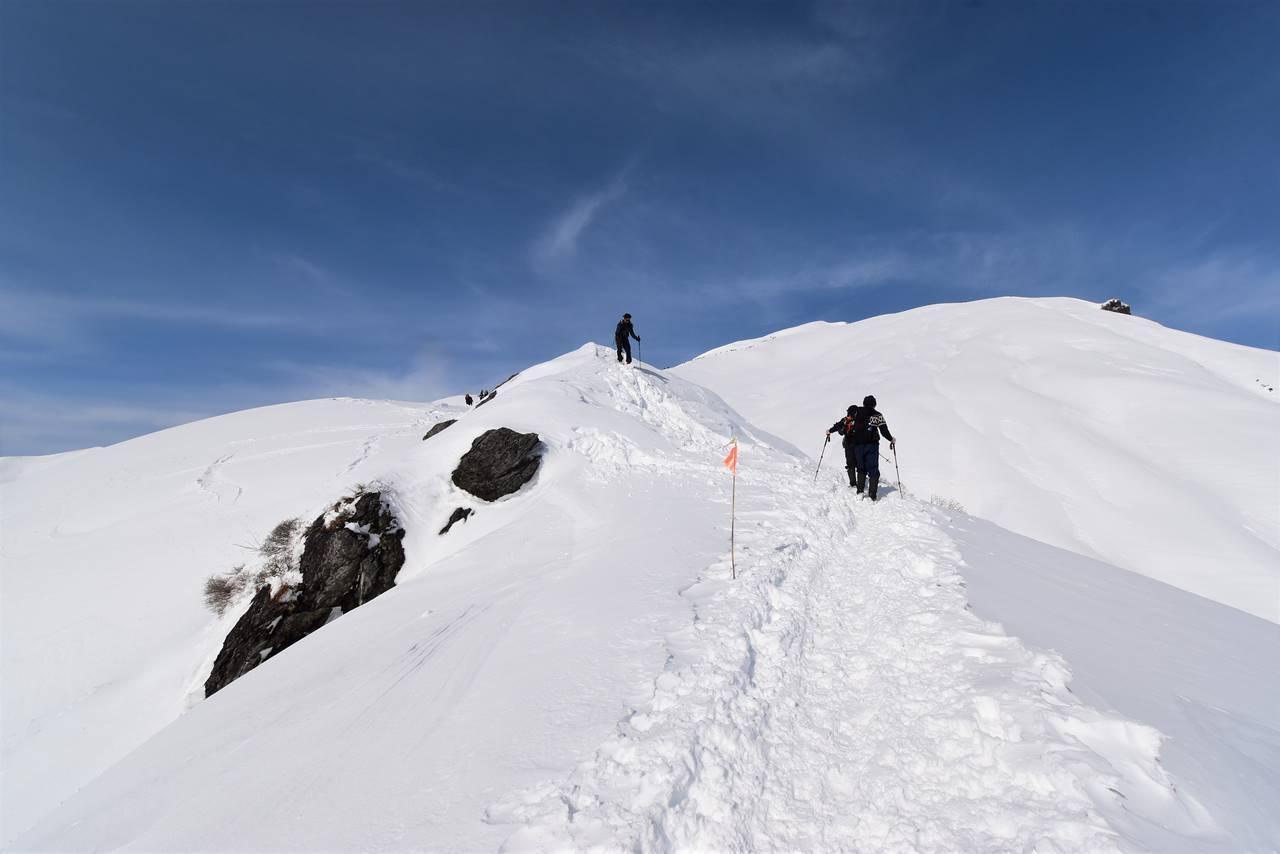 冬の谷川岳(天神尾根コース)雪山登山・天狗の溜まり場