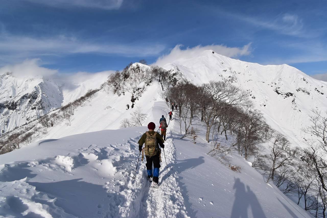 冬の谷川岳(天神尾根コース)雪山登山