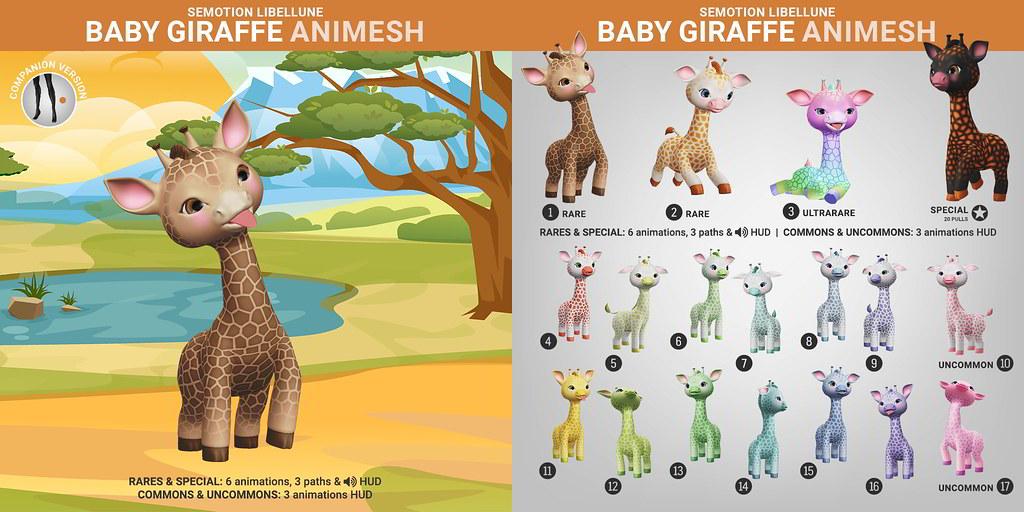 SEmotion Libellune Baby Giraffe Animesh