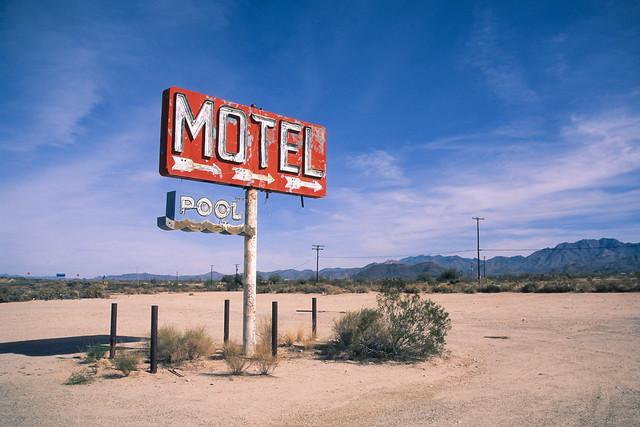 motel pool / route 66. yucca, az. 2014.