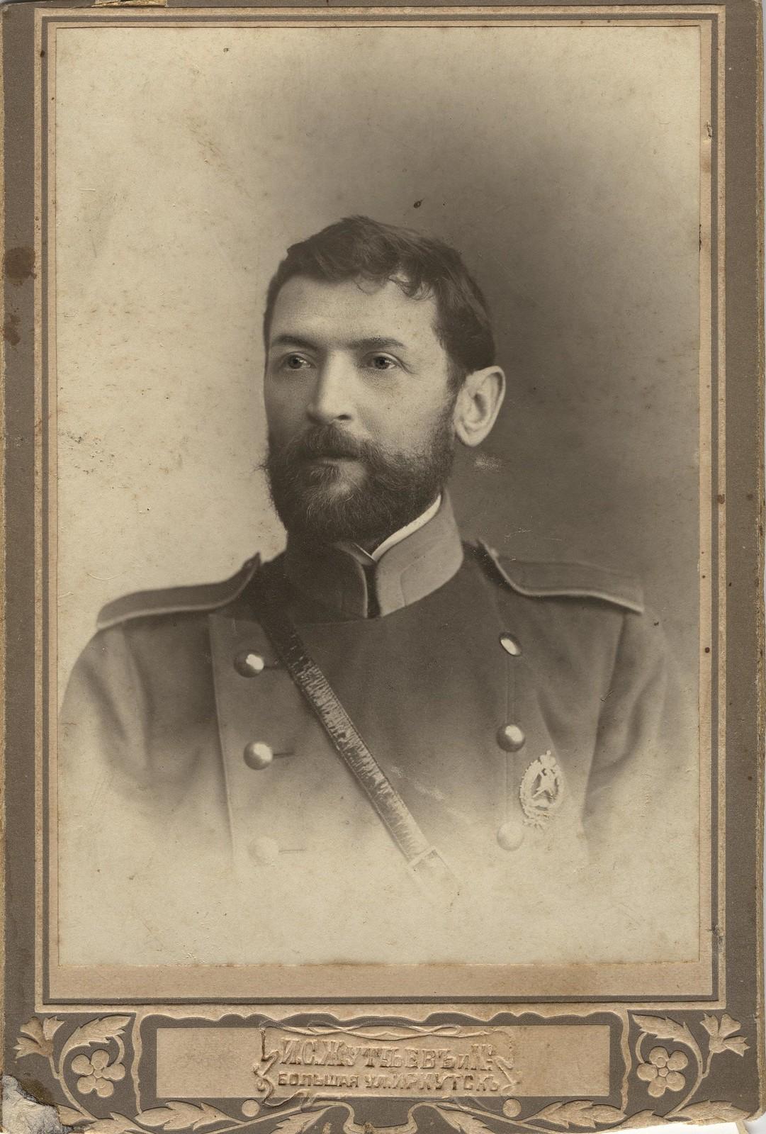 Брандмейстер Вакуленко Измаил Яковлевич в форме пожарного служителя