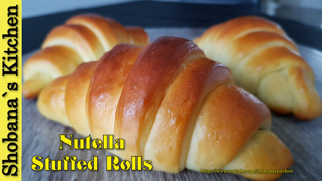 Sweet Rolls filled with Nutella‼ Perfect for a Weekend Morning with a good cup of coffee..!!!