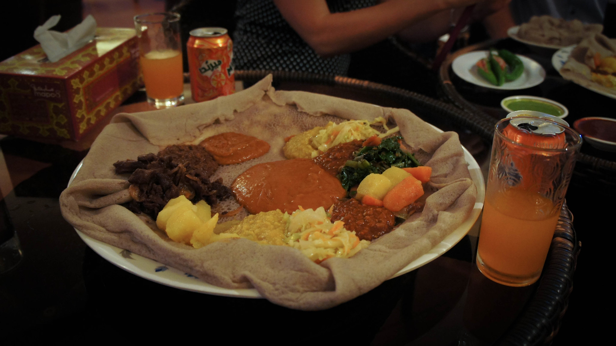 Sites for further exploration: local restaurants (pictured here, Eritrean food!!)